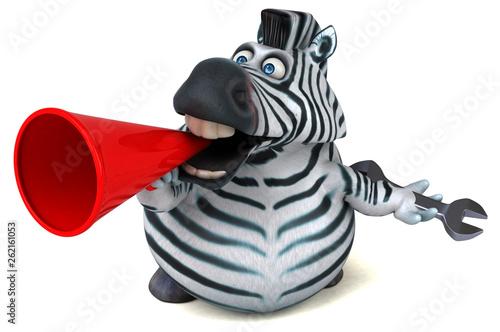 Fun zebra - 3D Illustration - 262161053