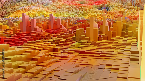 3D Würfel Hintergrund Grafik - 262168836