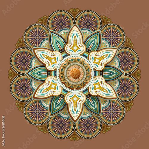 Flower motif pattern design