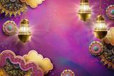 Islamic art fuchsia background