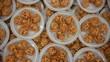 panipuri fuchka golgappa. Indian snack chaat spicy food  top view
