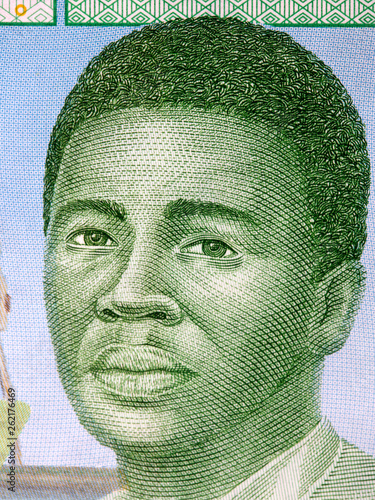 African man, a portrait from Central African money