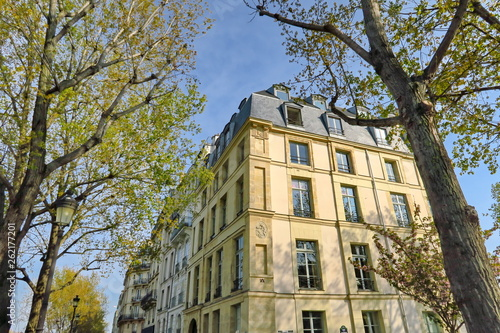 fototapeta na ścianę Immeuble parisien