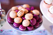 delicious brown and purple macaroons