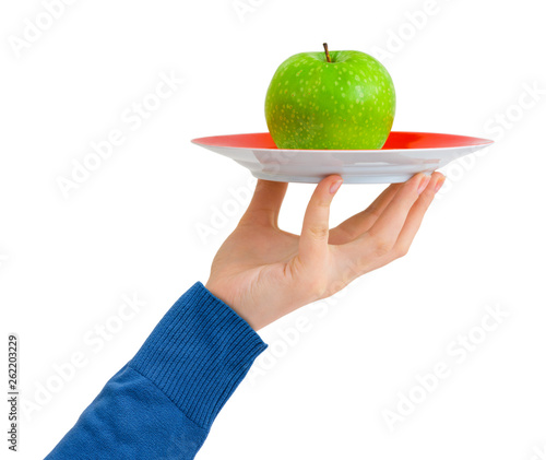 Hand with apple - 262203229