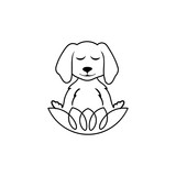 Meditating Dog logo template