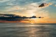 Quadro beautiful sunset on the sea