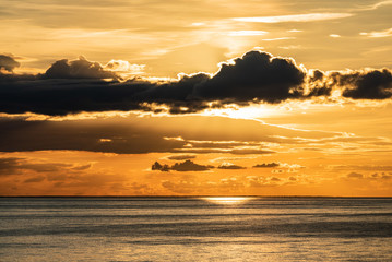 beautiful sunset on the sea © Maksim Shebeko