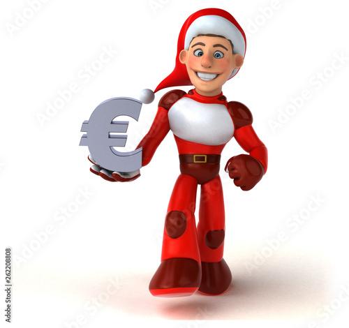 Fun Super Santa Claus - 3D Illustration - 262208808