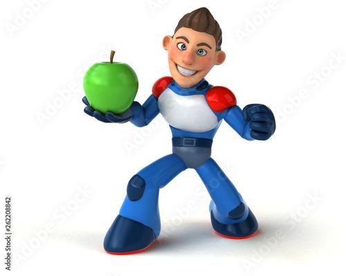 Super modern superhero - 3D Illustration - 262208842