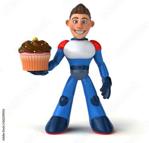 Super modern superhero - 3D Illustration - 262209036