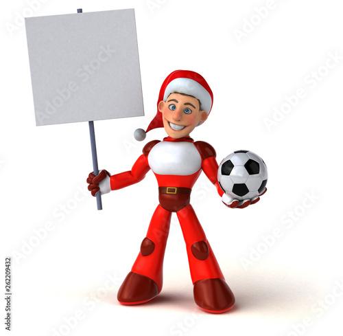 Fun Super Santa Claus - 3D Illustration - 262209432