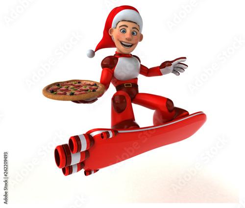 Fun Super Santa Claus - 3D Illustration - 262209493