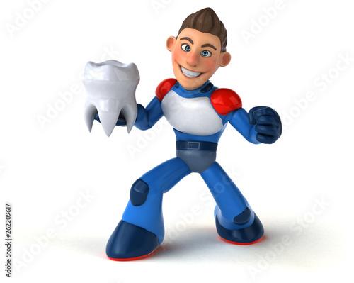 Super modern superhero - 3D Illustration - 262209617