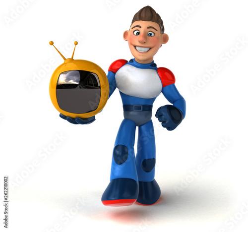 Super modern superhero - 3D Illustration - 262210002