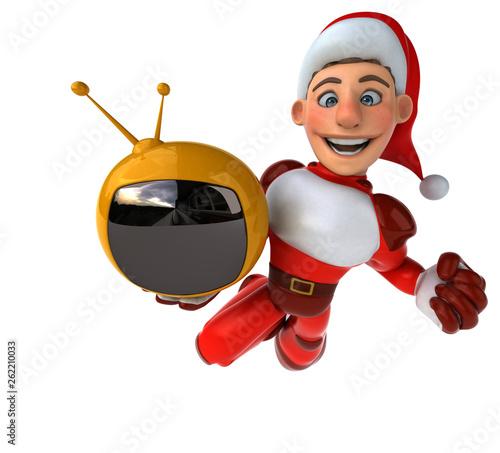 Fun Super Santa Claus - 3D Illustration - 262210033