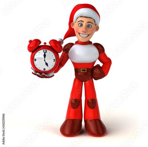 Fun Super Santa Claus - 3D Illustration - 262210066