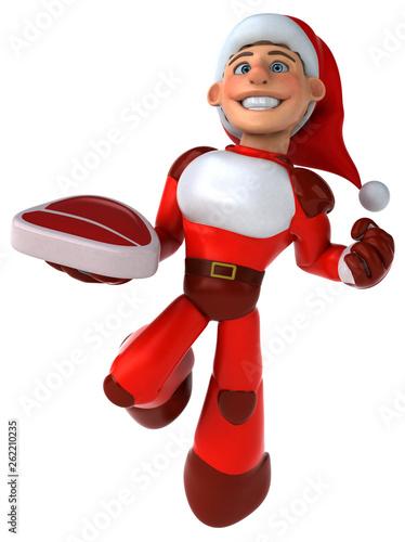 Fun Super Santa Claus - 3D Illustration - 262210235