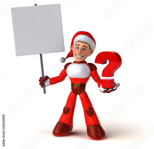 Fun Super Santa Claus - 3D Illustration - 262210440