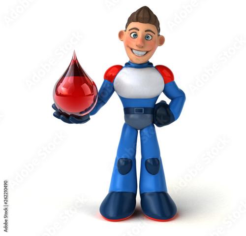 Super modern superhero - 3D Illustration - 262210490