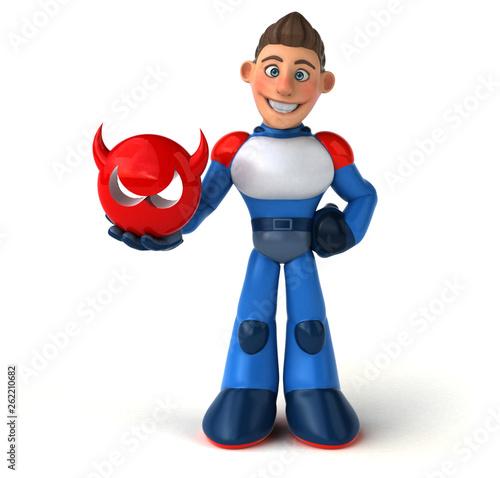 Super modern superhero - 3D Illustration - 262210682