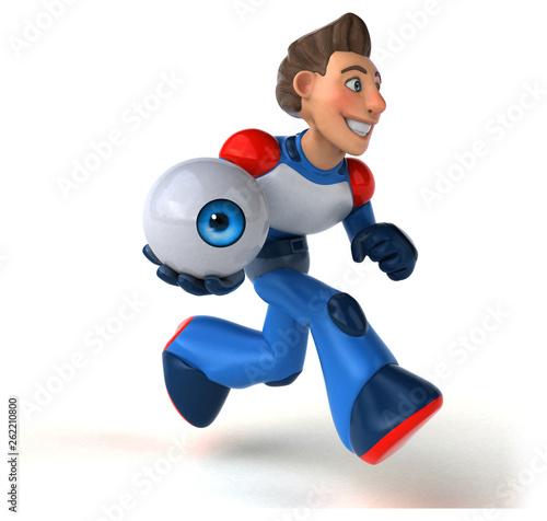 Super modern superhero - 3D Illustration - 262210800