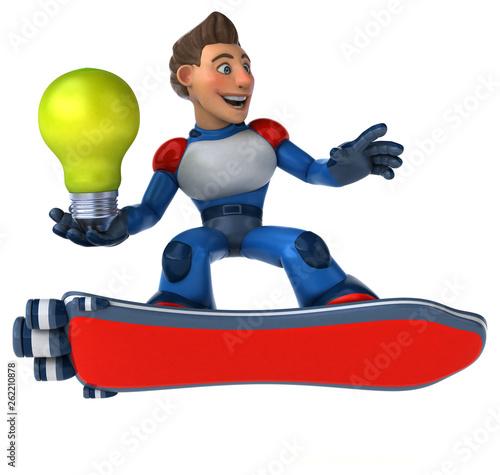 Super modern superhero - 3D Illustration - 262210878