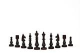 Czarne pionki szachowe