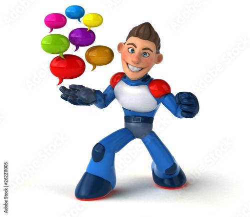 Super modern superhero - 3D Illustration - 262211005