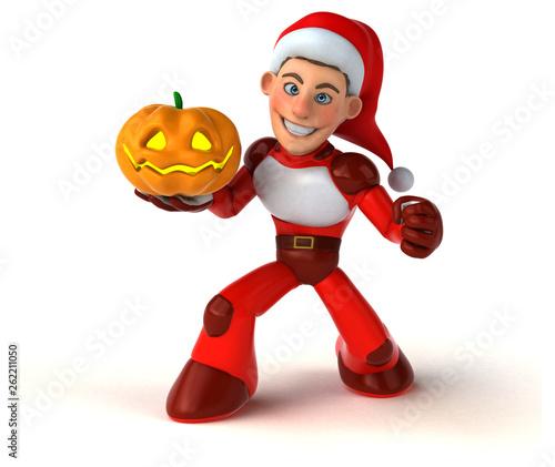 Fun Super Santa Claus - 3D Illustration - 262211050