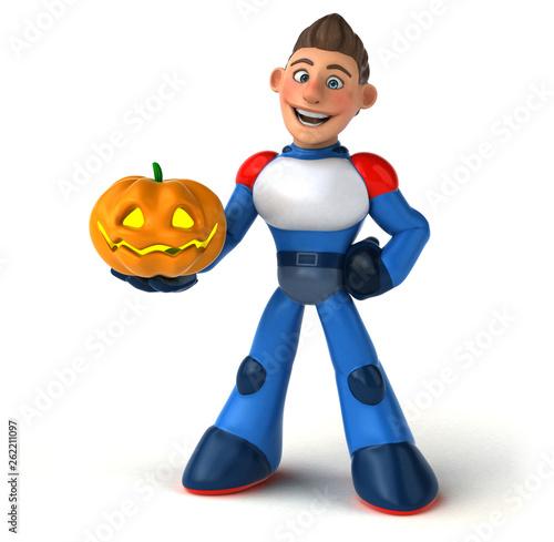 Super modern superhero - 3D Illustration - 262211097