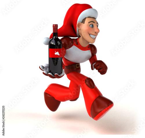 Fun Super Santa Claus - 3D Illustration - 262211220