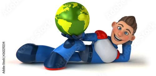 Super modern superhero - 3D Illustration - 262211234