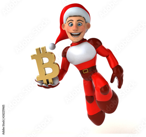 Fun Super Santa Claus - 3D Illustration - 262211465