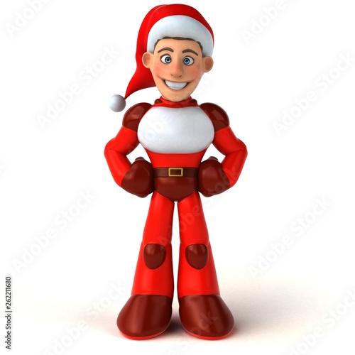 Fun Super Santa Claus - 3D Illustration - 262211680