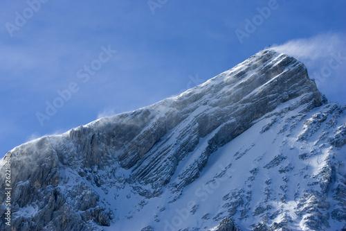 canvas print picture Alpspitze mit Schneefahne
