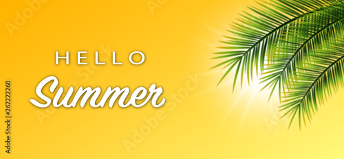 canvas print picture Hello Summer