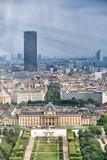 Trocadero Gardens aerial view from Eiffel Tower, Paris