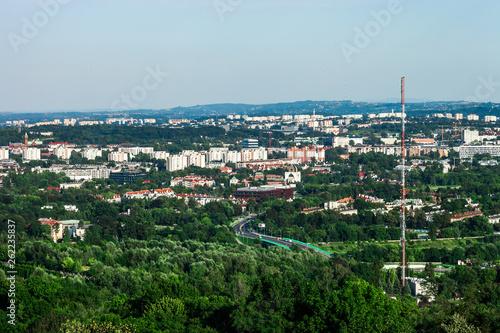 Cityscape of Krakow by blue sky, Poland