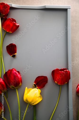 Tulips on table © mythja