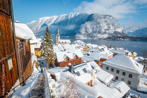Hallstatt village in winter, Salzkammergut, Austria © JFL Photography