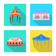 Vector design of awning and shelter logo. Set of awning and canopy stock vector illustration.