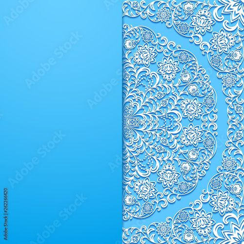 Floral background with vintage ornament - 262266420