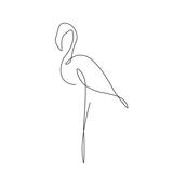Flamingo silhouette vector illustration
