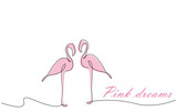 Summer background with flamingo vector illustration