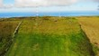 Aerial view of landscape of Terceira Island, Azores Islands, Portugal, Europe