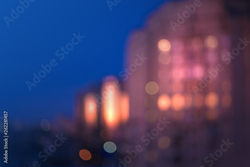 Blurred abstract background with lights of the night city - 262281457
