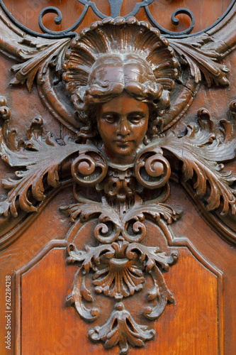 canvas print picture Rathaus Wels, Türdekoration