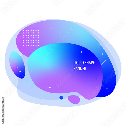 Vector liquid shape modern banner - 262303872