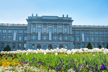 Spring in Zagreb, Croatia, Mimara museum, popular tourist travel destination